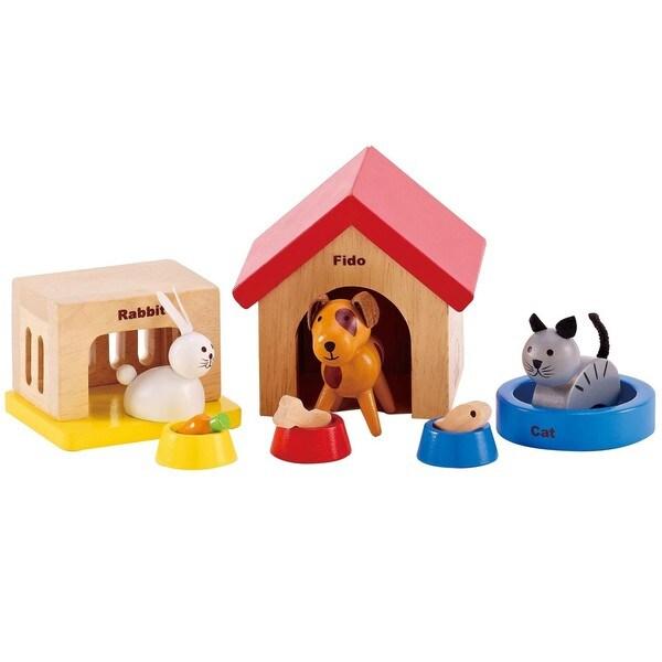 Hape 'Family Pet' Wooden Dollhouse Animals