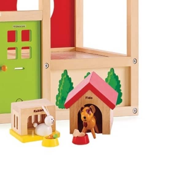 Shop Hape Family Pet Wooden Dollhouse Animals Free Shipping On