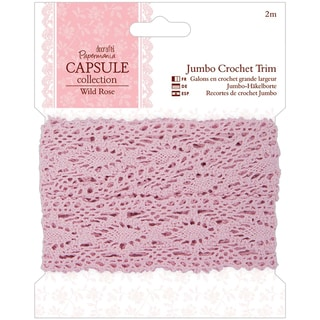 Papermania Wild Rose Jumbo Crochet Trim 36mm X 2m