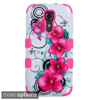 INSTEN Tuff Dual Layer Hybrid Morning Petunias Rubberized Hard PC/ Silicone Phone Case Cover For Kyocera Hydro Vibe C6725
