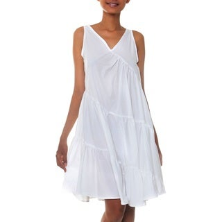 Cotton 'Balinese Cloud' Sundress (Indonesia)