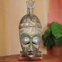 Hand-crafted Sese Wood 'Nhyira' African Mask (Ghana)