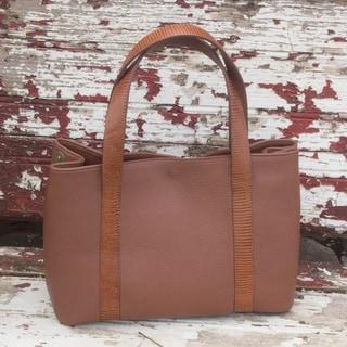 Handmade Leather 'Modern Chic' Tote Handbag (Mexico)
