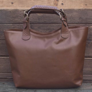 Handmade Leather 'Generosity' Tote Handbag (Mexico)