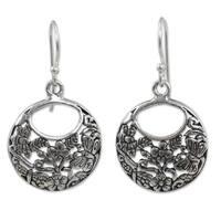 Handmade Sterling Silver 'Magical Garden' Earrings (Thailand)