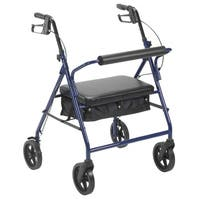 Drive Medical Bariatric Rollator with 8-inch Wheels