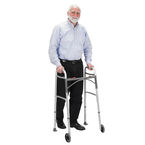 Drive Medical Walker Glide Ski, Gray, 1 Pair - Gray