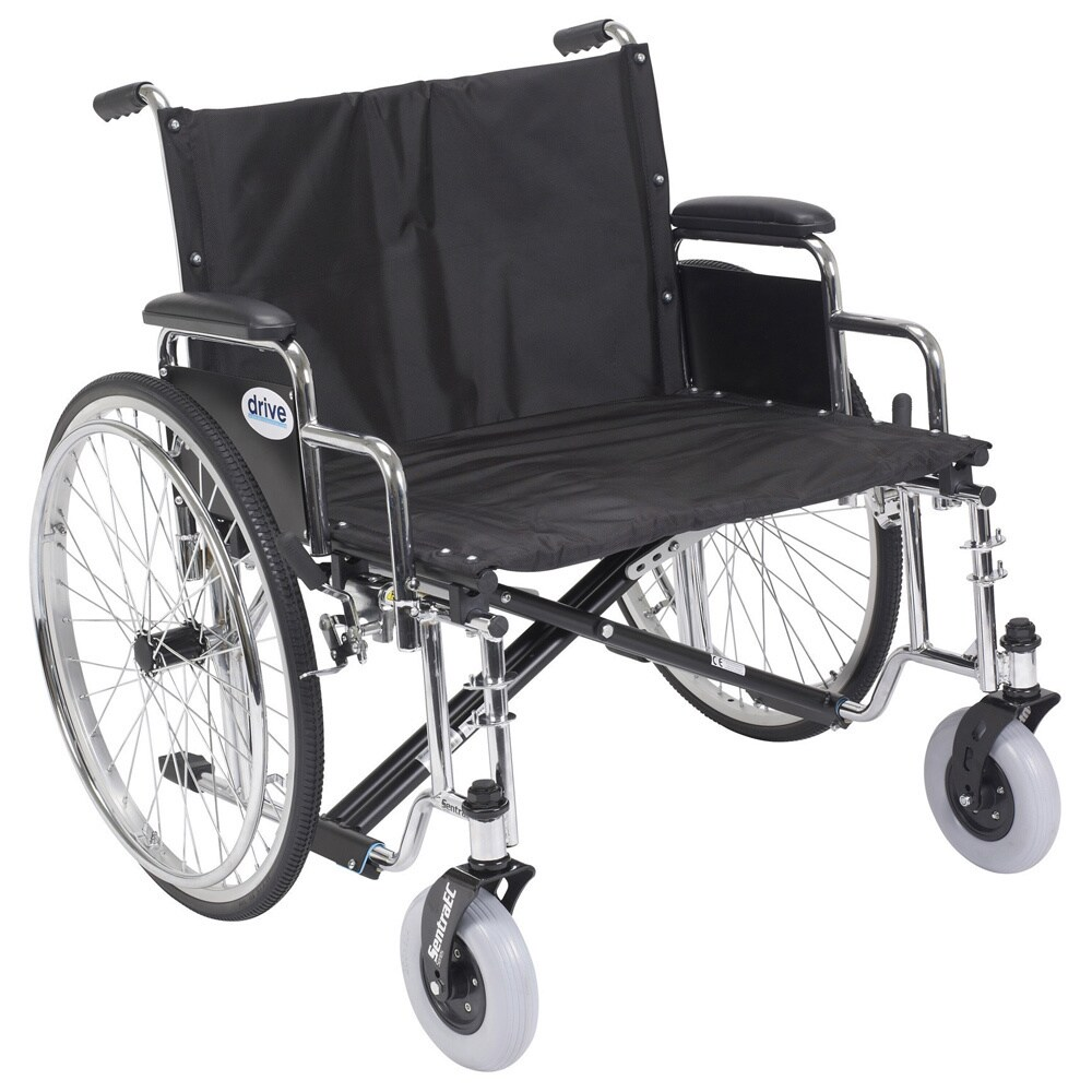 "Drive Medical Sentra EC Heavy Duty Extra Wide Wheelchair 30"" Seat (As Is Item) (Detachable Desk Arms, 30"" Seat)"