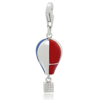 Gioelli Sterling Silver Enameled Hot Air Balloon Charm