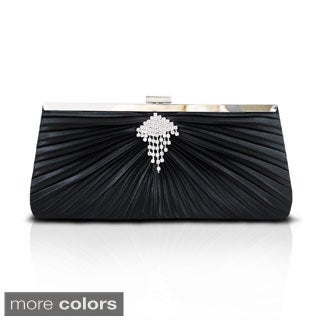 Jacki Design Rhinestone and Satin Evening Bag