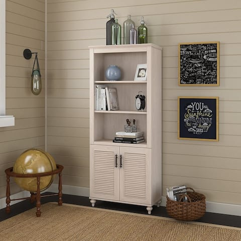 Volcano Dusk Bookcase with Doors from kathy ireland Home by Bush Furniture