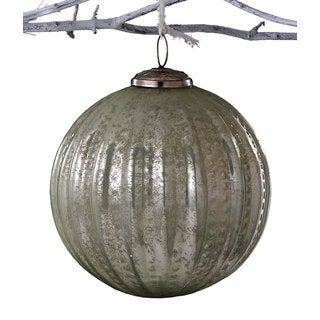 Sage & Co 8-inch Glass Beaded Ball Christmas Ornament