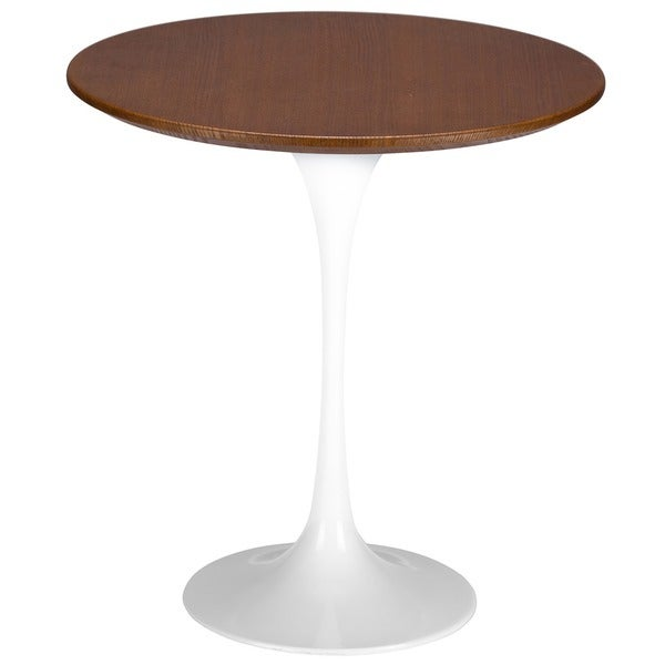 Poly and Bark Daisy 20 inch Walnut Top Side Table