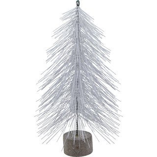 Sage & Co 18-inch White Christmas Pine Tree On Stand (Pack of 6)