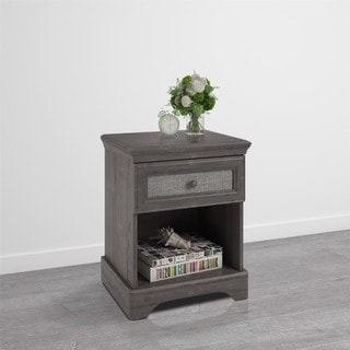 Altra Stone River Nightstand with Fabric Insert