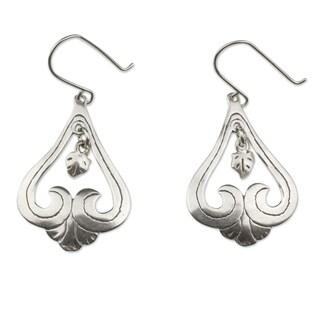 Handmade Sterling Silver 'Sweet Renewal' Dangle Earrings (Mexico)