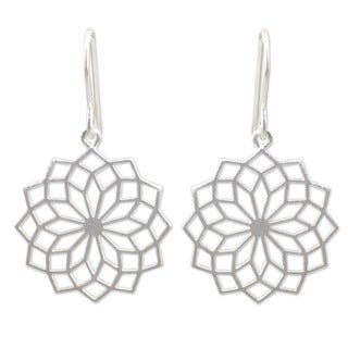 Handcrafted Sterling Silver 'Thai Sparklers' Earrings (Thailand)