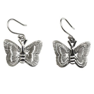 Handcrafted Silver 'Freedom' Dangle Earrings (Mexico)