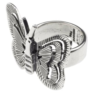 Handmade Silver 'Freedom' Cocktail Ring (Mexico)