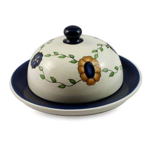 Handmade Ceramic 'Margarita' Cheese Plate (Guatemala)