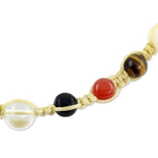 Handcrafted Multi-gemstone 'Well-being' Chakra Necklace (India)