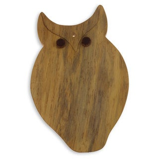 Handmade Pinewood 'Morning Owl' Cutting Board (Guatemala)