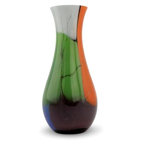 Millennial Colors Blown Glass Vase