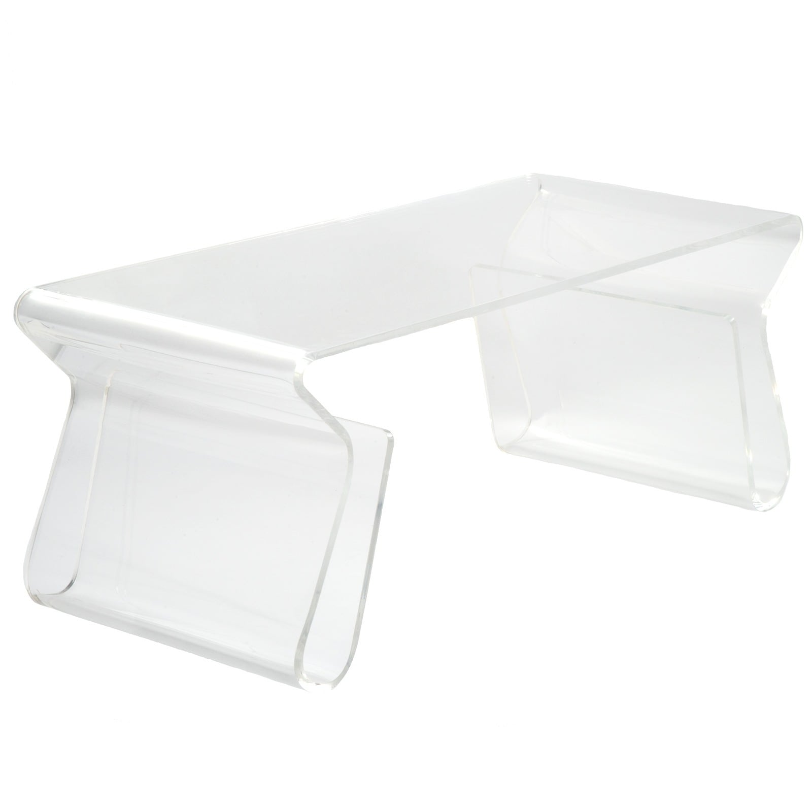 Poly and Bark Mag Coffee Table in Clear
