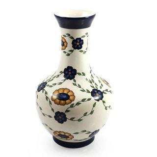 Handcrafted Ceramic 'Margarita Daisy Grace' Vase (Guatemala)