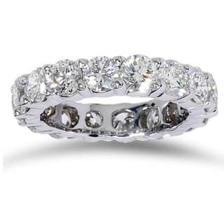 14k White Gold 5ct TDW Diamond Eternity Wedding Band