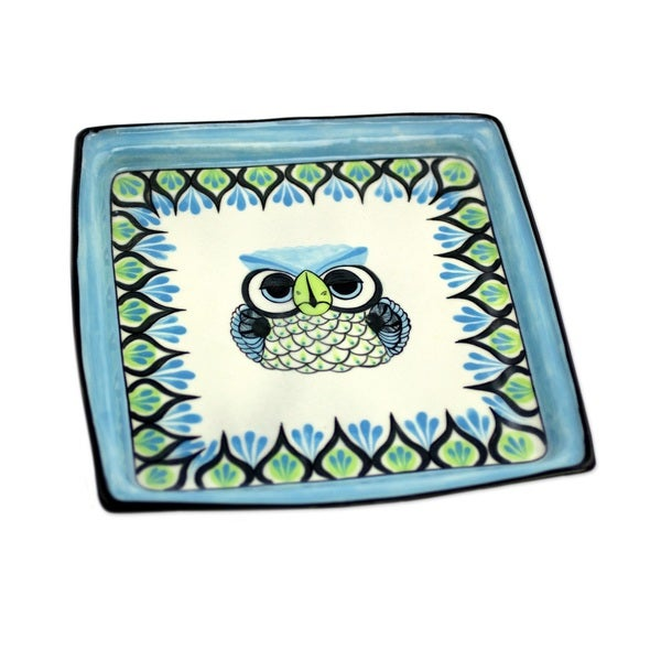 Handmade Ceramic 'Owl' Serving Plate (Guatemala)