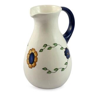 Handmade Ceramic 'Margarita' Jug (Guatemala)