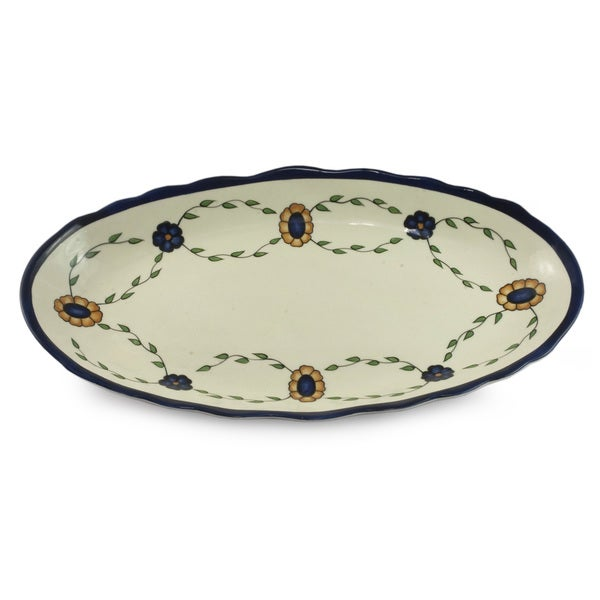 Handmade Ceramic 'Margarita' Platter (Guatemala)