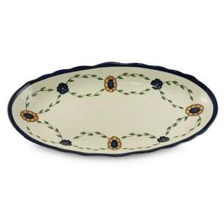Handcrafted Ceramic 'Margarita' Platter (Guatemala)
