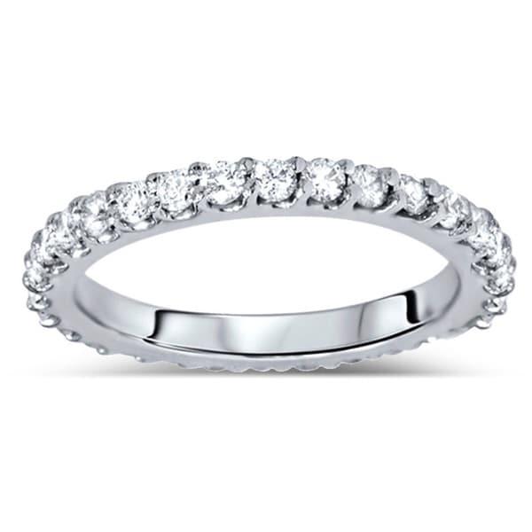 14k White Gold 7/8ct TDW Diamond Eternity Wedding Band