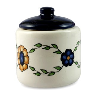 Handcrafted Ceramic 'Margarita' Sugar Bowl (Guatemala)