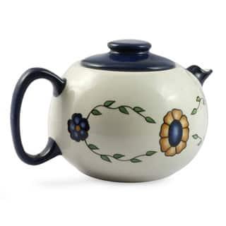 Handmade Ceramic 'Margarita' Tea Pot (Guatemala)|https://ak1.ostkcdn.com/images/products/9649013/P16832266.jpg?impolicy=medium