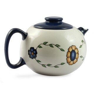 Handmade Ceramic 'Margarita' Tea Pot (Guatemala)