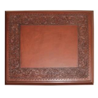 Handmade Mohena Wood Leather 'Hacienda Home' Accent Table (Peru)