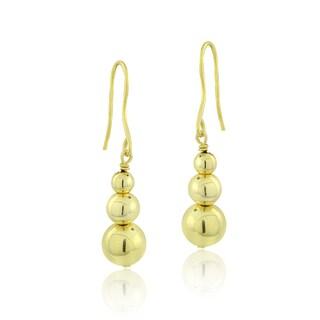 Mondevio Silver Bead Dangle Earrings (Option: Yellow)