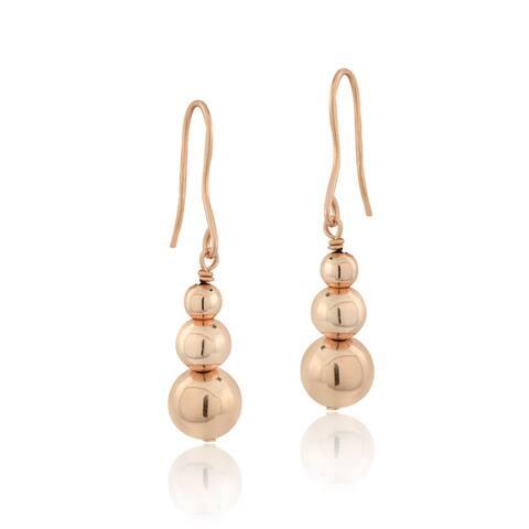 Mondevio Sterling Silver Graduating Journey Beads Dangle Drop Earrings, 3 Colors