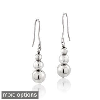 Mondevio Silver Bead Dangle Earrings (Option: Yellow)