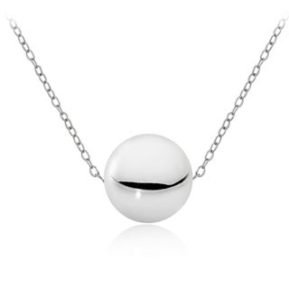 Mondevio Silver 10mm Ball Bead Necklace