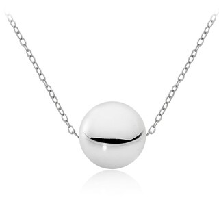Mondevio Silver 10mm Ball Bead Necklace (2 options available)