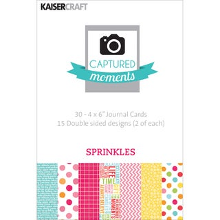 "Captured Moments Double-Sided Cards 6""X4"" 30/Pkg-Sprinkles"