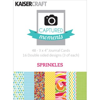 "Captured Moments Double-Sided Cards 3""X4"" 48/Pkg-Sprinkles"
