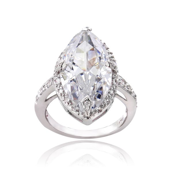 ICZ Stonez Sterling Silver 14 1/10ct TGW Multi-color Cubic Zirconia Ring. Opens flyout.