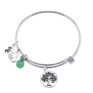 Shine Stainless Steel 'Family A Circle Of Strength, Love, Hope' Expandable Charm Bangle