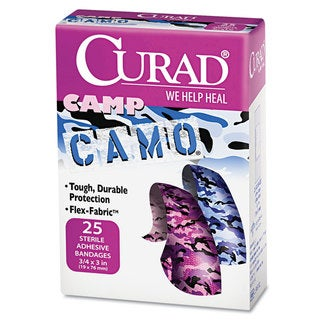 Curad Pink and Blue Camouflage Kids 25-piece Adhesive Bandages