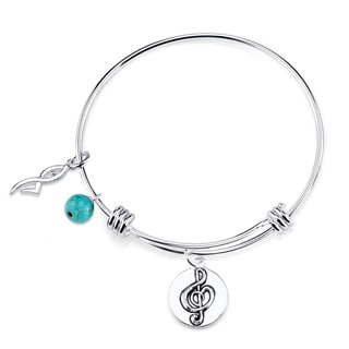 Shine Stainless Steel 'Dance Like No One Is Watching...Live Like It's Heaven On Earth' Expandable Charm Bangle